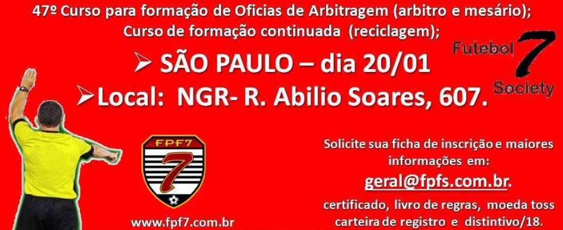 47º CURSO PARA FORMAÇÃO DE OFICIAIS DE ARBITRAGEM