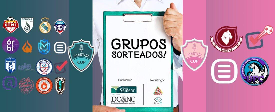 GRUPOS SORTEADOS! STARTUP CUP APRESENTOU DETALHES NESSA QUARTA (21/02)
