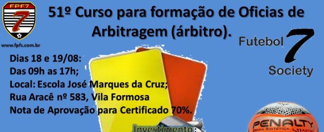 51º CURSO PARA FORMAÇÃO DE OFICIAIS DE ARBITRAGEM