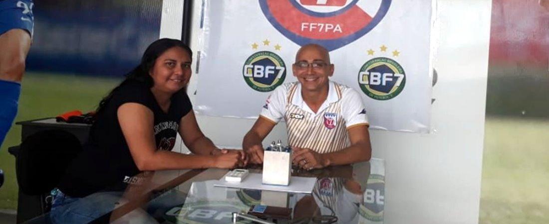 FF7PA RECEBE A TREINADORA CAMPEÃ BRASILEIRA ALINE COSTA