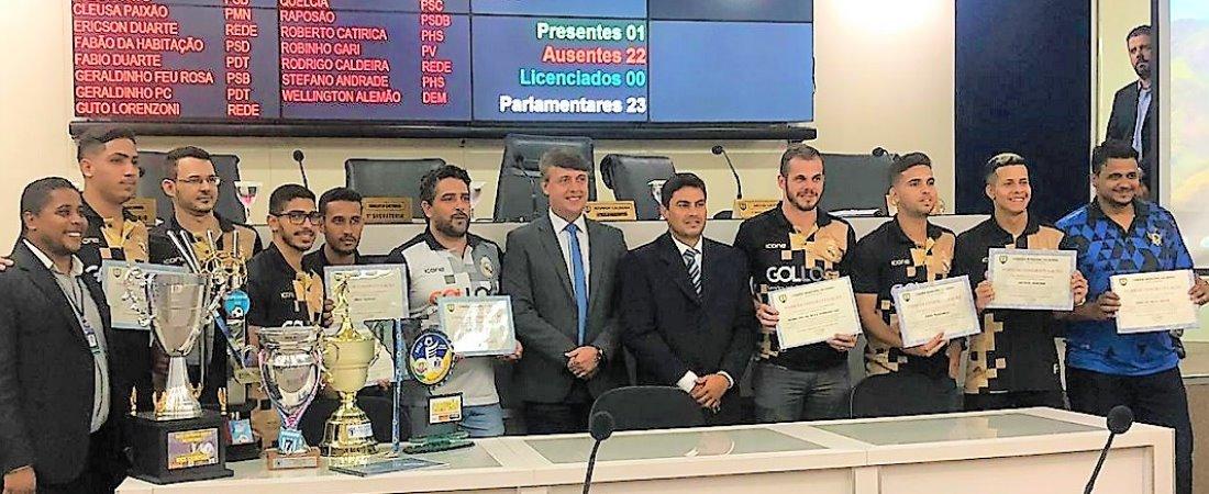 REAL MADRID F7 É HOMENAGEADO PELA SERRA